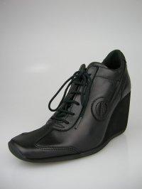 画像1: 【11月30日まで】【10%OFF】ノーネーム/no name FLYER J LUCAS LEATHER スニーカー 靴 ブラック